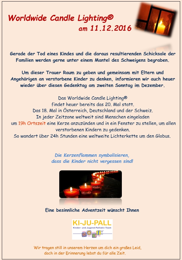 World Wide Candle Lighting 2016